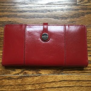 NWOT Red Leather Hobo Wallet